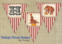 Vintage Circus Party Banner