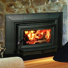 Wood Heat sells the Hearthstone Clydesdale, plus wood inserts from other top manufacturers. Visit one of our showrooms today! Wood Insert, Wood, Tuscan Fireplace, Wood Burning Fireplace, Fireplace Mantel Decor, Wood Heat, Fireplace Inserts, Stove Fireplace, Fireplace
