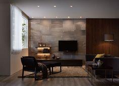 down lights for shelves Living Room Shelves, Home Living Room, Living Area, Living Room Designs, Living Room Decor, Interior Work, Interior Design, Natural Interior, Ideal Home