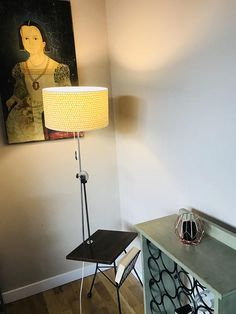 Beautiful Rare Vintage lamp with table