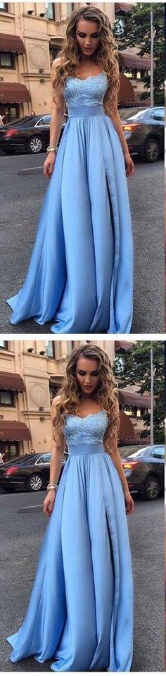 Long Prom Dress,Appliques Prom Dresses,Sexy Evening Dres,Blue Evening Dresses G360#prom #promdress #promdresses #longpromdress #2018newfashion #newstyle #promgown #promgowns #formaldress #eveningdress #eveninggown #2018newpromdress #partydress #meetbeauty #aline #bluepromdress #applique #strapless