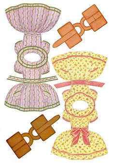 1964 Lowe's #2766 - Front & Back Dolls and Dresses \  I like to use these dresses as cards on gifts for little girlies!