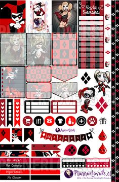 Free Printable - I wanna be Harley Quinn – Stickers Imprimibles