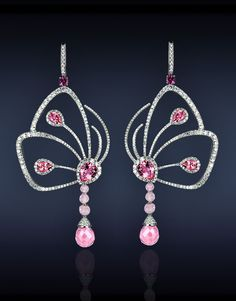 Papillon Collection. Pink Tourmaline Earrings