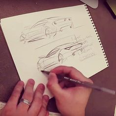 """Doodles from my YouTube channel.  Imagine if we used half of the time we spend consuming what others have done to create something of our own. I wonder what cool things would pop up.  This video is on how to sketch a sports car in 3/4 rear view with a BiC pen. Search for """"TheSketchMonkey"""" on the Tube to find it if you're interested!  #thesketchmonkey #youtube #tutorial #cardesign #designsketching #industrialdesign #instasketch #cars #drawing #dowhatyoulove by thesketchmonkey…"""