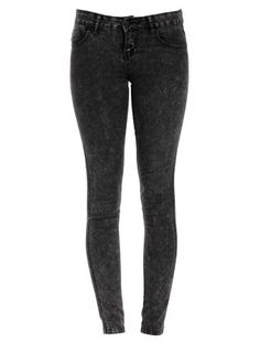 £22.99 Black (Black) 32in Black Acid Wash Skinny Jeans | 254169301 | New Look