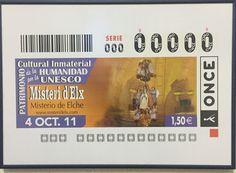 El #MisteridElx como imagen del sorteo de la ONCE del 4 de octubre de 2011.