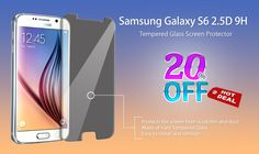 #Shop online Tempered Glass Screen Protector for #Samsung Galaxy S6 @ just Rs.199