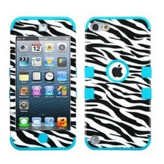 G [For Apple iPod touch generation), (Zebra/Teal) iPod touch generation)] TUFF Heavy Duty Hybrid Cute Design Armor Anti-Fingerprint Case Rugged Tough TPU Rubber Skin Cover Premium Hard PC Outer Shell (Zebra Teal) Ipod 5 Cases, Ipod Touch Cases, Cute Phone Cases, Ipod Touch 6th Generation, 6 Case, Iphone Se, Apple Iphone, Tropical, Walmart