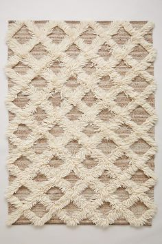 Slide View: 1: Lattice Flokati Rug