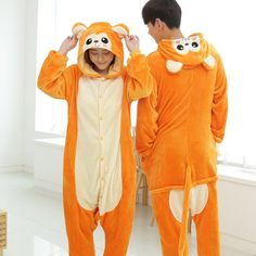 Golden monkey Pajamas Animal Onesies Costume Kigurumi c6dfbaebb7539