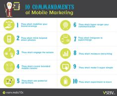 10 Commandments of Mobile Marketing #infographic