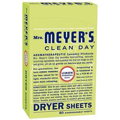Mrs. Meyer's Dryer Sheets Lemon Verbena #WalmartGreen