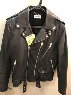 Saint Laurent L17 Leather Jacket 50 Lambskin #YvesSaintLaurent #Motorcycle