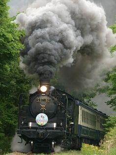 Steam locomotive, Niigata, Japan.