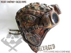 Post Apocalyptic helmet. SALVAGED ware by Mark Cordory Creations. www.markcordory.com