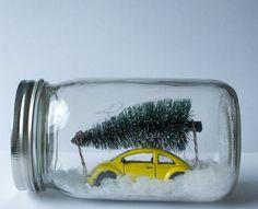 do it yourself ideen schneekugel tanne auto