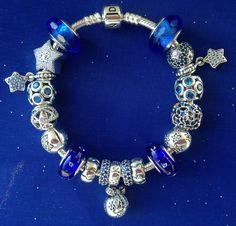 Pandora Blue Stars  #pandora #bracelets  @robinJADONjames