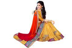 Golden #Saree