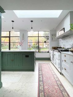 Why I think limestone was the perfect choice for our kitchen extension — and how it works just as well with our green and grey painted Shaker kitchen, as it does with all the other rooms in our home. Head over to the blog for more pictures :) #limestonefloor #kitcheninspo #shakerkitchen #crittall #crittallwindows #kitchen Limestone Paving, Limestone Flooring, Crittall, Old Cottage, Luxury Vinyl Flooring, Shaker Kitchen, Crossed Fingers, Grey Paint, Garden Spaces