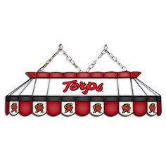 Maryland Terrapins MVP Stained Glass Lamp