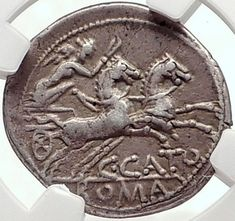 Roman Republic 123BC Rome Authentic Ancient Silver Coin ROMA CHARIOT NGC i70176 Roman Republic, Rare Coins, Women In History, Coin Collecting, Artemis, Silver Coins, Rome, Investing, Stamps