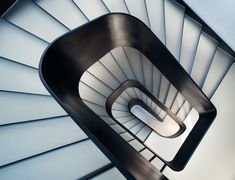 White Concrete Old House | I/O Architects #spiral #staircase