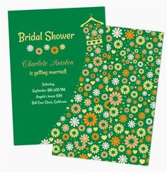 Printable Emerald Bridal Shower Invitations