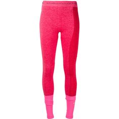 Adidas By Stella Mccartney Contrast Leggings ($75) ❤ liked on Polyvore featuring pants, leggings, adidas, legging pants, adidas trousers, pink leggings and pink pants