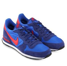 Designed for distance-running legend Alberto Salazar, made its debut in the '82 New York Marathon. Nike Internationalist sneaker shoes back to support your hobby. With blue color, suede and mesh upper material, combination iof blue and red color, Nike logo and laces, stay stylish with this Internationalist sneaker.   http://www.zocko.com/z/JEqBu