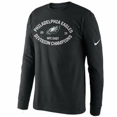 39b203a46 Nike Philadelphia Eagles 2013 NFC East Division Champions Long Sleeve T- Shirt - Black