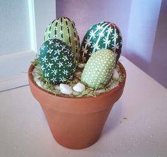 Cactus, rock art, painted rocks, terrarium, stone art, castus bowl, cactus pot, cactus collection, cactus rock, cactus terrarium, cactus pot