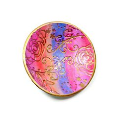 Rainbow Wedding Ring Holder- polymer clay Bowl- Jewelry Holder- Engagement Ring Dish- Handmade Ring Dish - pinned by pin4etsy.com