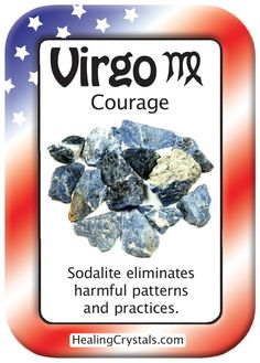 VIRGO COURAGE: Use Sodalite to eliminate harmful patterns and practices. - Pinned by The Mystic's Emporium on Etsy