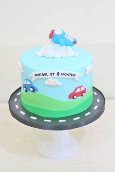 Transportation Plane Cars cake by Cupcake Couture Davao  www.facebook.com/cupcakecouturedavao