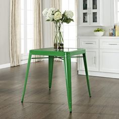 crosley furniture amelia cafe table in green