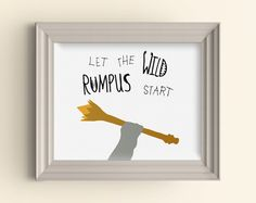 Let the wild rumpus start art print Where the Wild Things Are Monster Scepter Baby Room Nursery Playroom Art Print Wall Poster Shower Gift by CarnivalePress on Etsy https://www.etsy.com/listing/211912083/let-the-wild-rumpus-start-art-print