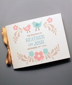 DIY Folksy Love Birds wedding program from #DownloadandPrint. http://www.downloadandprint.com/templates/folksy-love-birds-wedding-program-booklet/