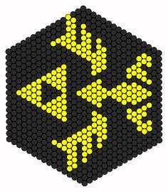 Hylian Crest Perler Bead Pattern | Bead Sprites | Misc Fuse Bead Patterns
