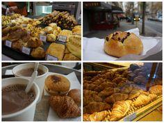Pastelería y bollería variada en París
