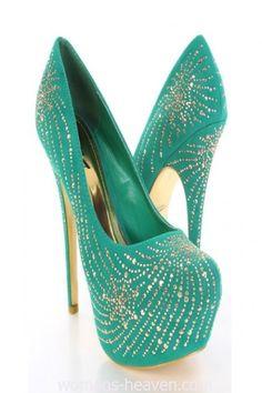 Green heels image,green heels, moda,style, fashion, high heels, image, photo, pic, pumps, shoes, stiletto, women shoes http://www.womans-heaven.com/green-heels-image-11/