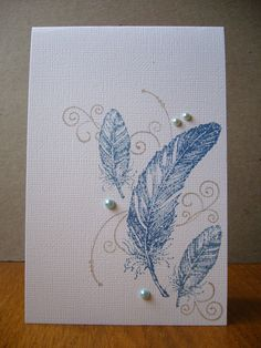 feathers - good idea to combine with other stamps