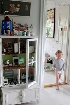 Cabinet turned doll house