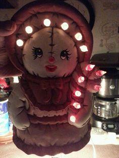 Santa light-up Ms. Santa Clause Beautiful rose pink color Vint.-1993 SALE ebay Id: debpark94_attic  &  tigerllc24