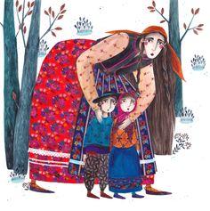 mért nem tudnak a fák járni? | Kürti Andrea #gypsy #illustration