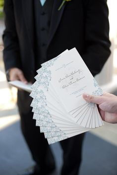 Teal Wedding Ceremony Programs, Teal Programs, Teal Wedding Programs