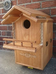 Check out http://squirrelhouses4bebe.com!  These hand made houses are the most unique,decorative,durable nest boxes that will protect your squirrels from the elements and predators.Each house is constructed of high quality materials,assembled by a union carpenter,designed to please squirrels.