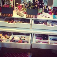 Organização de Maquiagens. Makeup Organization