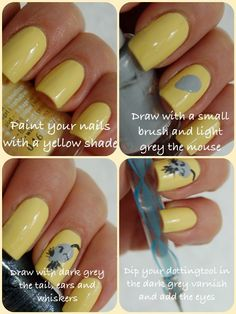 DIY cheese nailart part 1