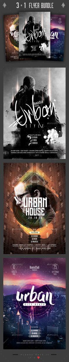 Bundle of Urban Flyer — Photoshop PSD #psd #4x6 • Download ➝ https://graphicriver.net/item/bundle-of-urban-flyer/18813255?ref=pxcr